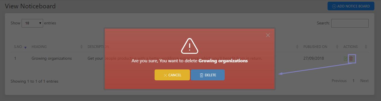 SHIFTHRM Delete Notice