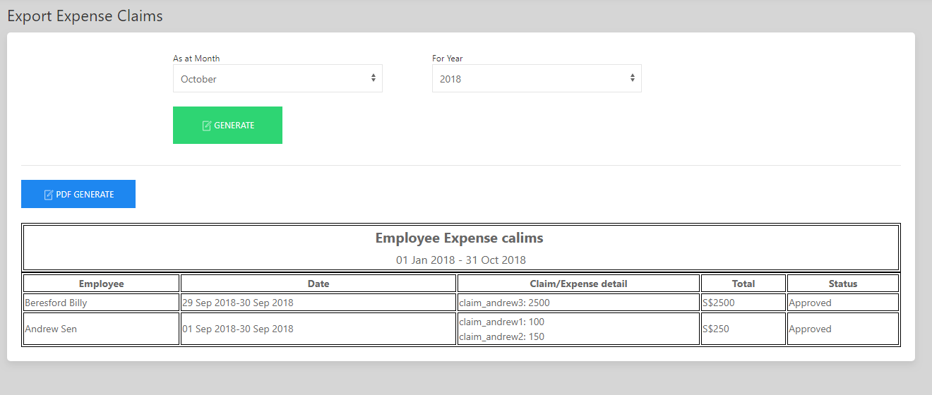 SHIFTHRM Export Expense/ Claim